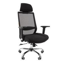Кресло руководителя Chairman 555 LUX сетка/ткань черный