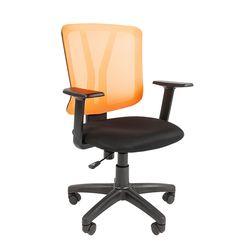 Кресло оператора Chairman 626 сетка/ткань оранжевый/черный