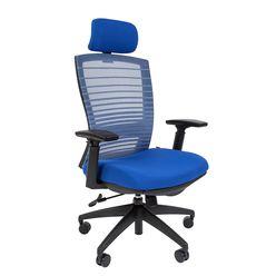 Кресло руководителя Chairman 285 сетка/ткань синий