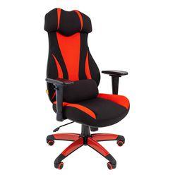 Кресло геймерское Chairman GAME 14 ткань черный/красный