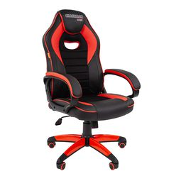 Кресло геймерское Chairman GAME 16 экопремиум черный/красный