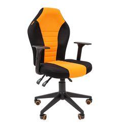 Кресло геймерское Chairman GAME 8 ткань черный/оранжевый