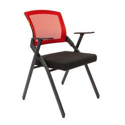 Кресло посетителя Chairman NEXX сетка/ткань красный/черный