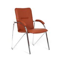 Кресло посетителя Chairman 850 экокожа коричневый