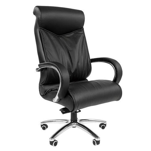 Кресло руководителя Chairman 420 кожа черный