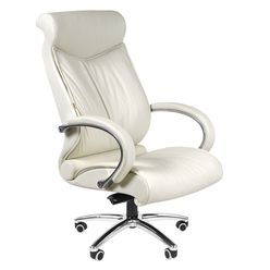 Кресло руководителя Chairman 420 кожа белый