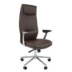 Кресло руководителя Chairman VISTA экокожа коричневый