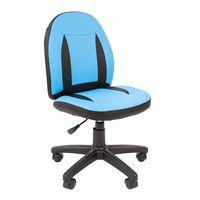 Кресло детское Chairman KIDS 122 экопремиум черный/голубой