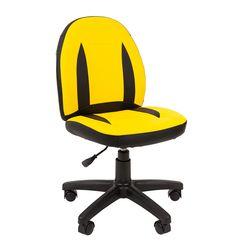 Кресло детское Chairman KIDS 122 экопремиум черный/желтый