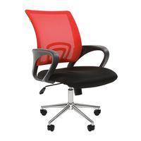 Кресло оператора Chairman 696 Chrome сетка/ткань красный/черный