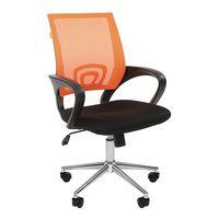 Кресло оператора Chairman 696 Chrome сетка/ткань оранжевый/черный