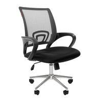 Кресло оператора Chairman 696 Chrome сетка/ткань серый/черный