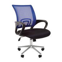 Кресло оператора Chairman 696 Chrome сетка/ткань синий/черный