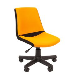Кресло детское Chairman KIDS 115 ткань черный/оранжевый