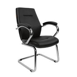 Кресло посетителя Chairman 495 экопремиум черный