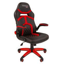 Кресло геймерское Chairman GAME 18 экопремиум черный/красный