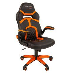 Кресло геймерское Chairman GAME 18 экопремиум черный/оранжевый