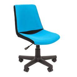 Кресло детское Chairman KIDS 115 ткань черный/голубой