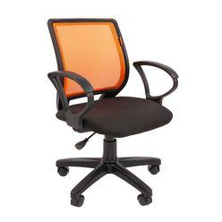 Кресло оператора Chairman 699 сетка/ткань черный/оранжевый