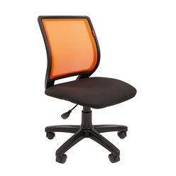 Кресло оператора Chairman 699 без подлокотников сетка/ткань черный/оранжевый