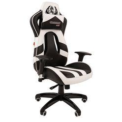 Кресло геймерское Chairman GAME 25 экопремиум черный/белый