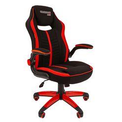 Кресло геймерское Chairman GAME 19 ткань черный/красный