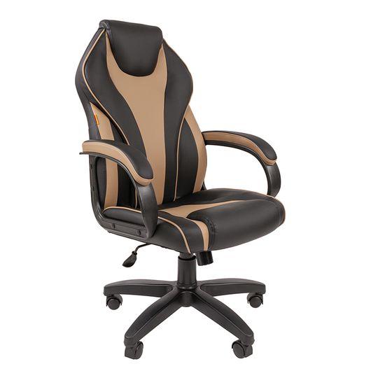 Кресло руководителя Chairman 299 экопремиум черный/бежевый