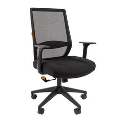 Кресло руководителя Chairman 555 LT сетка/ткань черный