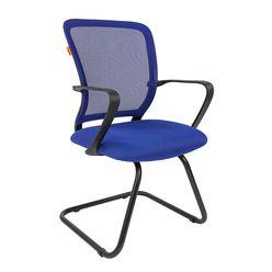 Кресло посетителя Chairman 698 V сетка/ткань синий