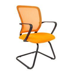 Кресло посетителя Chairman 698 V сетка/ткань оранжевый