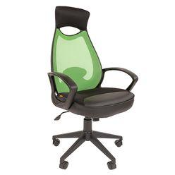 Кресло оператора Chairman 840 black сетка/ткань/экокожа черный/зеленый