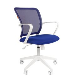 Кресло оператора Chairman 698 white сетка/ткань синий