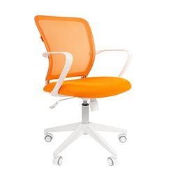 Кресло оператора Chairman 698 white сетка/ткань оранжевый
