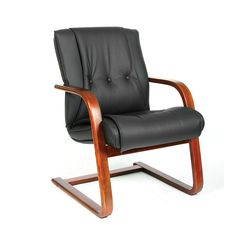Кресло посетителя Chairman 653V кожа черный