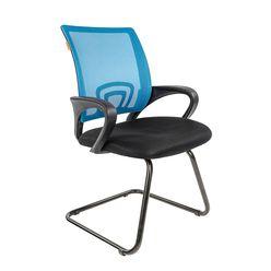 Кресло посетителя Chairman 696 V сетка/ткань голубой/черный