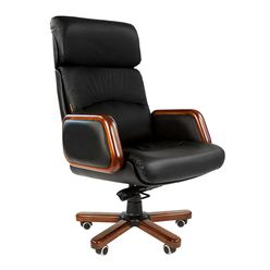 Кресло руководителя Chairman 417 кожа черный