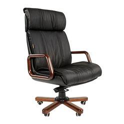 Кресло руководителя Chairman 419 кожа черный