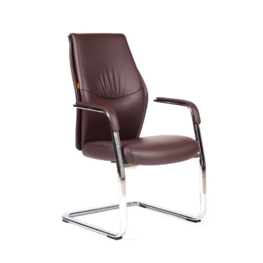 Кресло посетителя Chairman VISTA V экопремиум коричневый