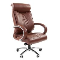Кресло руководителя Chairman 420 кожа коричневый