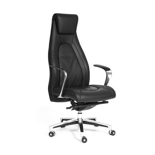 Кресло руководителя Chairman FUGA кожа черный