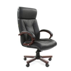 Кресло руководителя Chairman 421 кожа черный