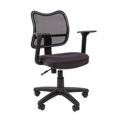 Кресло оператора Chairman 450 сетка/ткань черный/TW-12 серый
