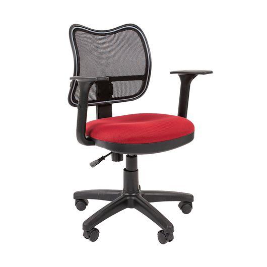 Кресло оператора Chairman 450 сетка/ткань черный/TW-13 красный