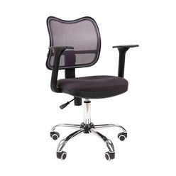Кресло оператора Chairman 450 хром сетка/ткань TW-12 серый