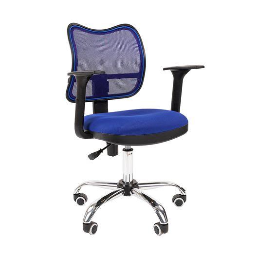 Кресло оператора Chairman 450 хром сетка/ткань TW-10 синий