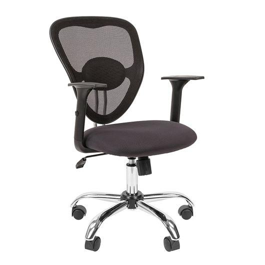 Кресло оператора Chairman 451 сетка/ткань черный/TW-12 серый