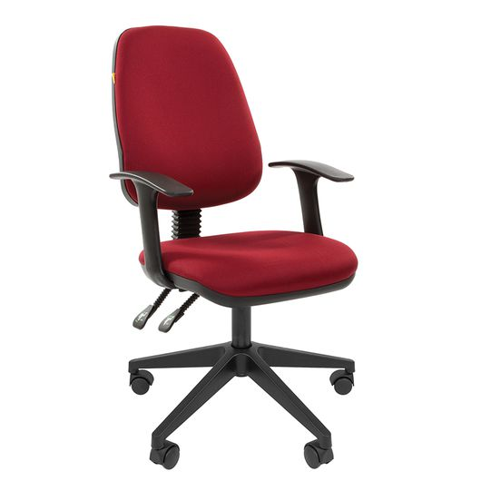Кресло оператора Chairman 661 ткань 15-11 бордовый