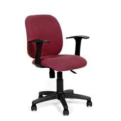 Кресло оператора Chairman 670 ткань бордовый