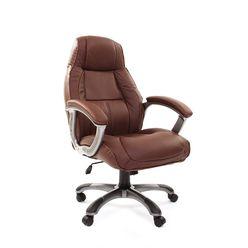 Кресло руководителя CHAIRMAN 436 кожа коричневая