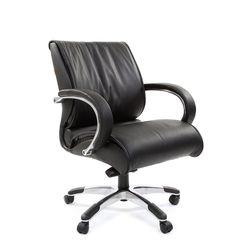 Кресло оператора Chairman 444 кожа черный